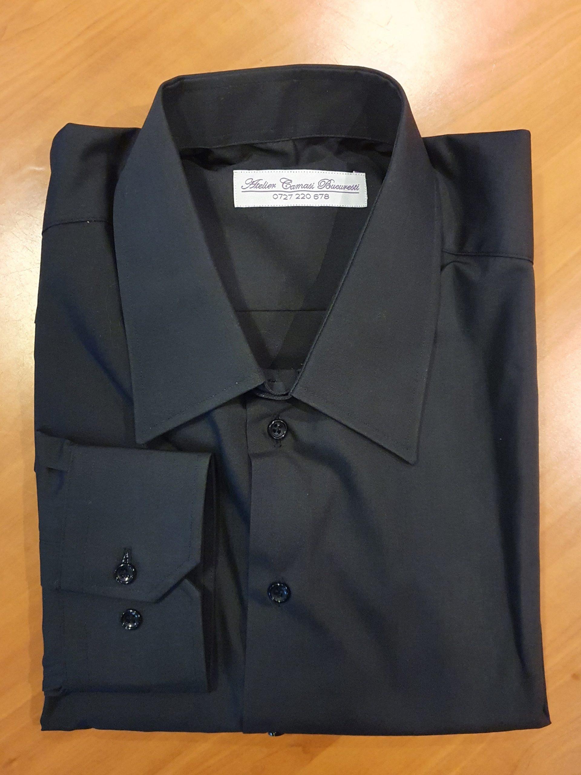 cămaşă neagră Atelier Cămăşi Bucureşti