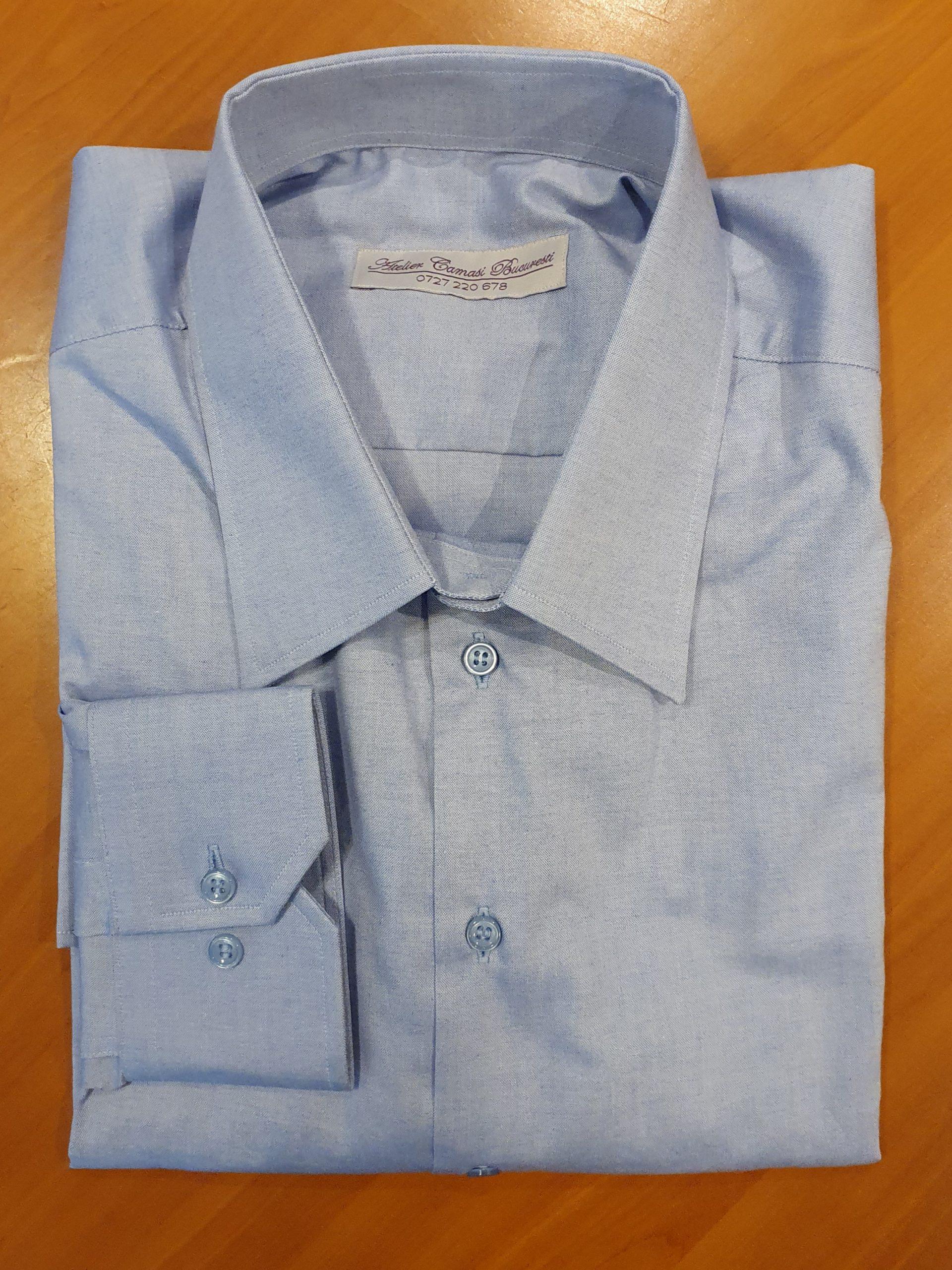 cămaşă bleu Atelier Cămăşi Bucureşti